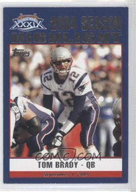 2005 Topps New England Patriots Super Bowl XXXIX Champions Box Set [Base] #39 - Tom Brady