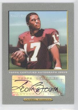 2005 Topps Turkey Red Autographs Turkey #TRA-JC - Jason Campbell