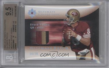 2005 Ultimate Collection [???] #GJP-SY - Steve Young /20 [BGS 9.5]