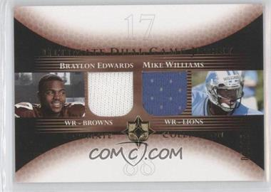 2005 Ultimate Collection Ultimate Dual Game Jersey Gold #DJ-EW - Braylon Edwards, Mike Williams /15