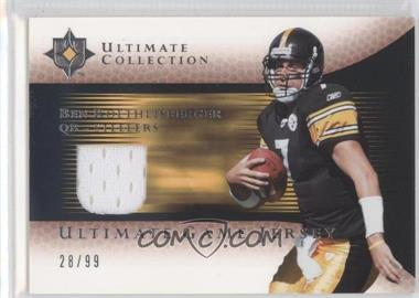 2005 Ultimate Collection Ultimate Game Jerseys #GJ-BR - Ben Roethlisberger /99