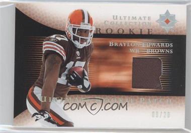 2005 Ultimate Collection Ultimate Rookie Patch Spectrum #RJP-BE - Braylon Edwards /20