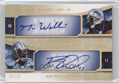 2005 Upper Deck Exquisite Collection - [???] #E2S-WW - Mike Williams, Roy Williams /25