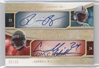 Ronnie Brown, Carnell Williams, Cadillac Williams /25