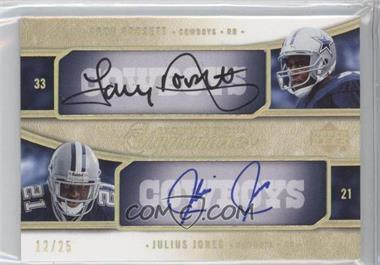 2005 Upper Deck Exquisite Collection [???] #E2S-DJ - Tony Dorsett, Julius Jones /25