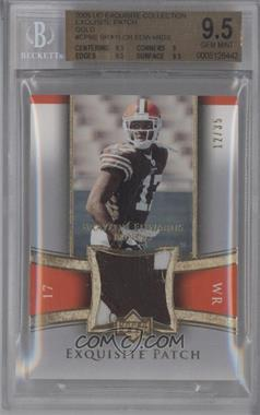 2005 Upper Deck Exquisite Collection Exquisite Patch Gold #EP-BE - Braylon Edwards /35 [BGS9.5]