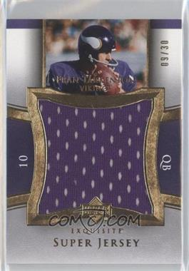 2005 Upper Deck Exquisite Collection Super Jersey Gold #SJ-FT - Fran Tarkenton /30