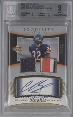 2005 Upper Deck Exquisite Collection #116 - Cedric Benson /99 [BGS 9]