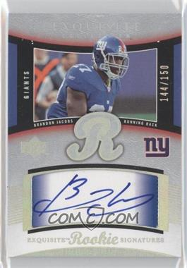 2005 Upper Deck Exquisite Collection #54 - Brandon Jacobs /150