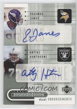 2005 Upper Deck NFL Foundations - Dual Endorsements Autographs #DE-JH - Erasmus James /75