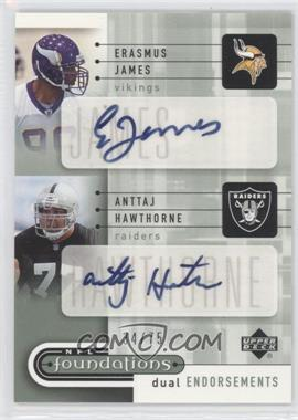 2005 Upper Deck NFL Foundations Dual Endorsements Autographs #DE-JH - Erasmus James /75