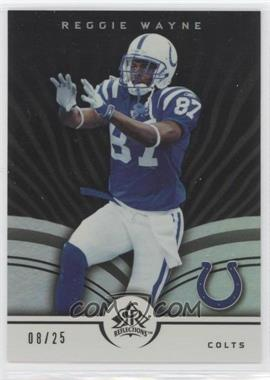 2005 Upper Deck Reflections - [Base] - Black #40 - Reggie Wayne /25