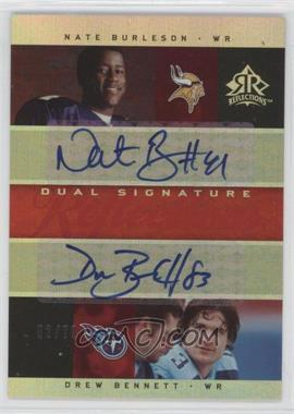 2005 Upper Deck Reflections - Dual Signature Reflections - [Autographed] #DS-BB - Nate Burleson, Drew Bennett /70