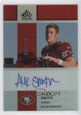 2005 Upper Deck Reflections - Rookie Exclusives Autographs - [Autographed] #RE-AS - Alex Smith /100