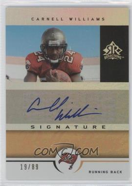 2005 Upper Deck Reflections - Signature Reflections - Gold [Autographed] #SR-CW - Cadillac Williams /89