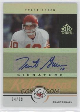 2005 Upper Deck Reflections - Signature Reflections - Gold [Autographed] #SR-TG - Trent Green /89