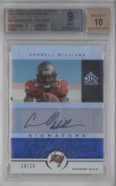 2005 Upper Deck Reflections [???] #SR-CW - Cadillac Williams /15 [BGS9]