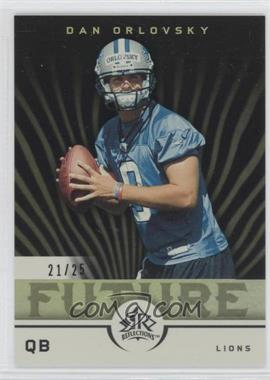 2005 Upper Deck Reflections Black #227 - Dan Orlovsky /25