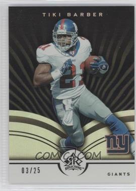 2005 Upper Deck Reflections Black #64 - Tiki Barber /25