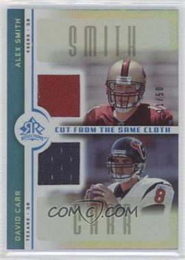 2005 Upper Deck Reflections Cut from the Same Cloth Blue #CC-SC - Alex Smith, David Carr /50
