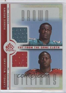 2005 Upper Deck Reflections Cut from the Same Cloth #CC-BW - Ronnie Brown, Carnell Williams