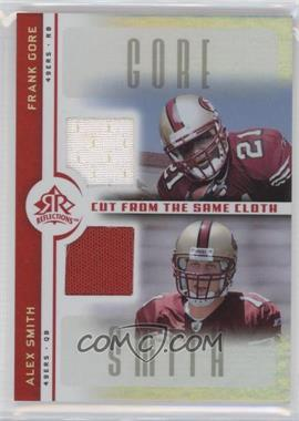 2005 Upper Deck Reflections Cut from the Same Cloth #CC-GS - Alex Smith, Frank Gore