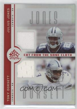 2005 Upper Deck Reflections Cut from the Same Cloth #CC-JD - Julius Jones, Tony Dorsett