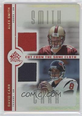 2005 Upper Deck Reflections Cut from the Same Cloth #CC-SC - Alex Smith, David Carr