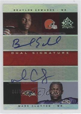 2005 Upper Deck Reflections Dual Signature Reflections [Autographed] #DS-BC - Braylon Edwards, Mark Clayton /70