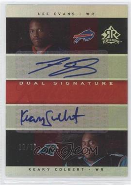 2005 Upper Deck Reflections Dual Signature Reflections [Autographed] #DS-EC - Lee Evans /70