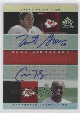 2005 Upper Deck Reflections Dual Signature Reflections [Autographed] #DS-GT - Trent Green, Craphonso Thorpe /70