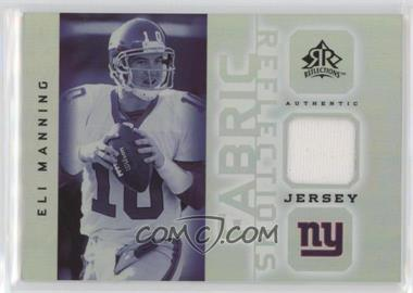 2005 Upper Deck Reflections Fabric Reflections #FR-EM - Eli Manning