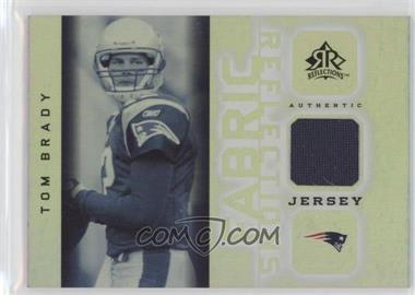 2005 Upper Deck Reflections Fabric Reflections #FR-TB - Tom Brady