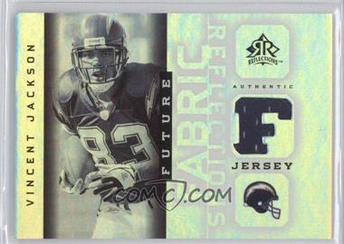 2005 Upper Deck Reflections Future Fabric Reflections #FFR-VJ - Vincent Jackson