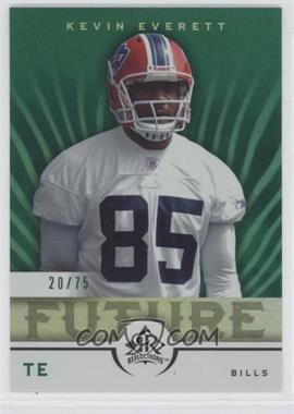 2005 Upper Deck Reflections Green #205 - Kevin Everett /75