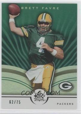 2005 Upper Deck Reflections Green #33 - Brett Favre /75