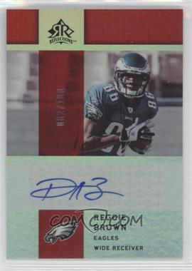2005 Upper Deck Reflections Rookie Exclusives Autographs [Autographed] #RE-RE - Reggie Brown /100