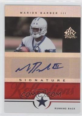 2005 Upper Deck Reflections Signature Reflections [Autographed] #SR-MB - Marion Barber III