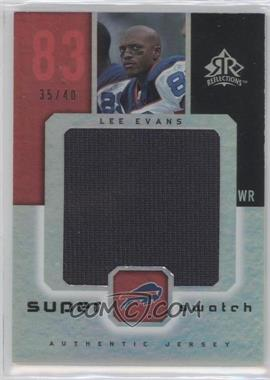 2005 Upper Deck Reflections Super Swatch #SS-LE - Lee Evans /40
