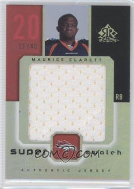 2005 Upper Deck Reflections Super Swatch #SS-MO - Maurice Clarett /40