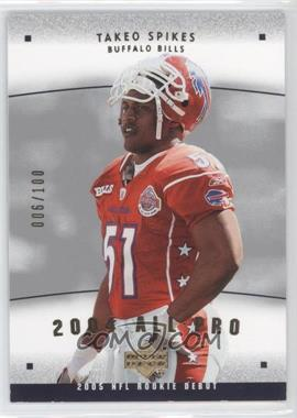2005 Upper Deck Rookie Debut - 2004 All-Pros - Gold #AP-26 - Takeo Spikes /100