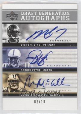 2005 Upper Deck Rookie Debut - Draft Generation Autographs #DG-VWM - Michael Vick, Reggie Wayne /10