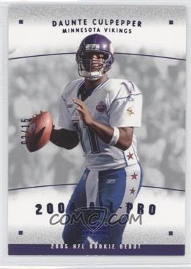 2005 Upper Deck Rookie Debut 2004 All-Pros Blue #AP-5 - Daunte Culpepper /15