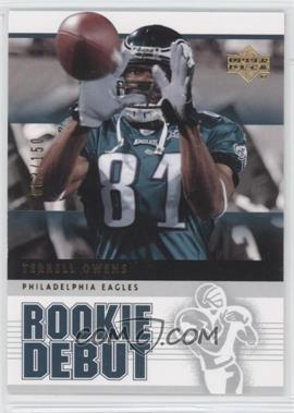 2005 Upper Deck Rookie Debut Gold 150 #74 - Terrell Owens /150