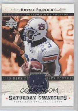 2005 Upper Deck Rookie Debut Saturday Swatches #SA-RB - Ronnie Brown