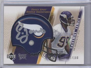 2005 Upper Deck Sweet Spot Rookie Signatures Gold [Autographed] #266 - Erasmus James /100