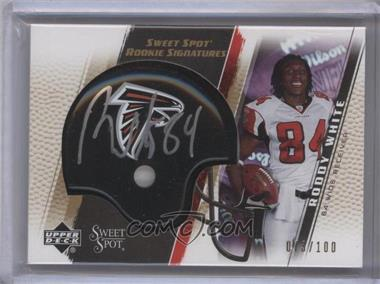 2005 Upper Deck Sweet Spot Rookie Signatures Gold [Autographed] #275 - Roddy White /100