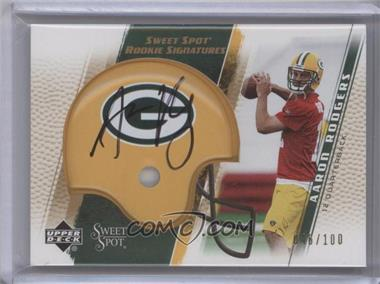 2005 Upper Deck Sweet Spot Rookie Signatures Gold [Autographed] #284 - Aaron Rodgers /100
