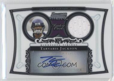2006 Bowman Sterling - Base Relic Autographs #BS-TJ - Tarvaris Jackson
