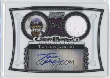 2006 Bowman Sterling Base Relic Autographs #BS-TJ - Tarvaris Jackson